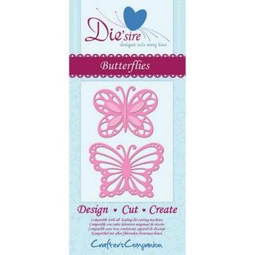 Die'sire (Crafters Companion) Butterflies Metal Craft Cutting Dies - 1