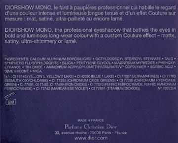 Dior Diorshow Mono Ombretto, 006Infinity - 2 gr - 2
