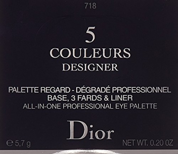 Dior Ombretto, 5 Couleurs Designer, 200 gr, 718-Taupe - 3