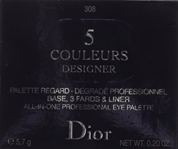 Dior Ombretto, 5 Couleurs Designer, 5.7 gr, 308-Khaki - 3