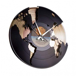 Disc'O'Clock Orologio in Vinile World, Oro - 1