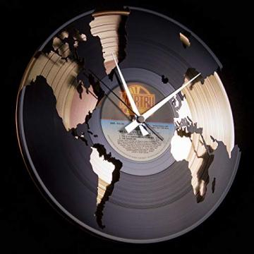 Disc'O'Clock Orologio in Vinile World, Oro - 2