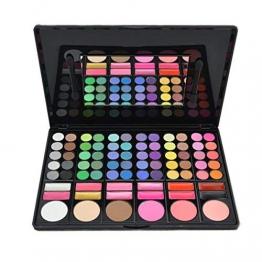 DISINO - Kit per trucco, fard e palette di ombretti, prodotto cosmetico, colori luminosi e dinamici, professionale, 78colori, modello 3 - 1