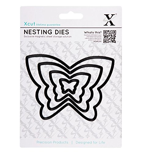 Docrafts - Set di 4 stampi decorativi a forma di farfalle - 1