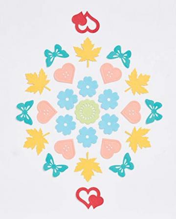 Docrafts - Set di 4 stampi decorativi a forma di farfalle - 4