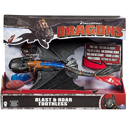 Dragons Dragon Trainer Sdentato Gigante con luci e proiettili, 6024756 - 1