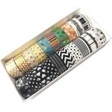 EDGEAM Washi Tape - Set di 20 nastro nastro decorativo Masking Tape - 1