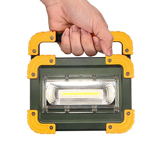 Elekin Lampada LED Esterni 30W, 1000LM Lampada da Lavoro a LED Ricaricabile a Tenuta stagna Impermeabile, 4 modalità Regolabili (Compresa Batteria 4 x 18650) - 1