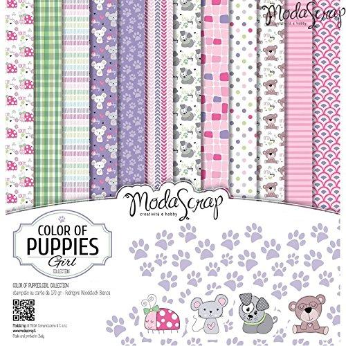Elizabeth Craft Designs colore dei cuccioli ragazze confezione di carta,, 12x 30,5cm - 1