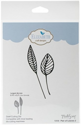 Elizabeth Craft Designs coppia di foglie 2die, grigio - 1