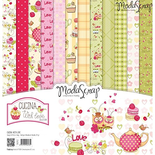 Elizabeth Craft Designs cucina con Love confezione di carta,, 12x 30,5cm - 1