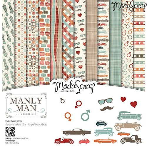 Elizabeth Craft Designs Manly Man confezione di carta,, 12x 30,5cm - 1