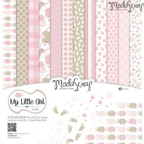 Elizabeth Craft Designs My Little Girl confezione di carta,, 12x 30,5cm - 1