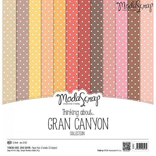 Elizabeth Craft Designs, pacco di carta della gamma Thinking about Grand Canyon,, 30,5cm x 30,5cm, Carta, Multi-Colour, 12 x 12 - 1