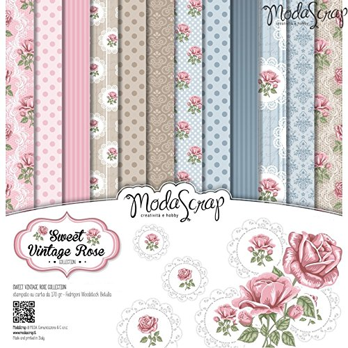 Elizabeth Craft Designs Sweet vintage rose Paper Pack,, 6 x 15,2 cm - 1