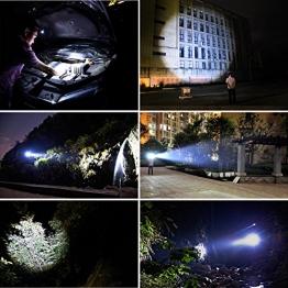 EMIDO Lampade da Testa LED, Ricaricabile Usb 6000 Lumen Lampada Frontale, Luce Frontale Impermeabile Zoomable 4 Modalità - perfetto per correre, campeggio, corsa, speleologia, pesca - 1