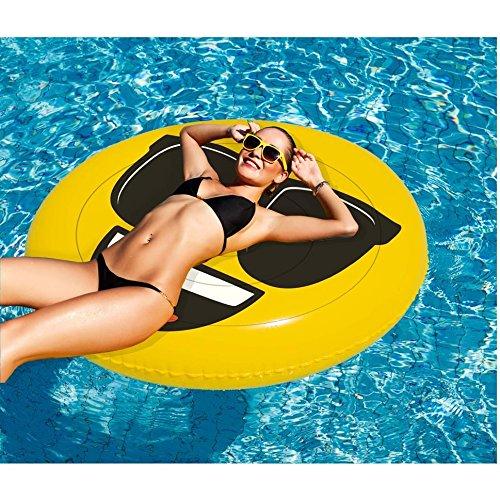 Emoji gonfiabile Faccia Fredda, per il mare e la piscine, Ø 140 cm - 1