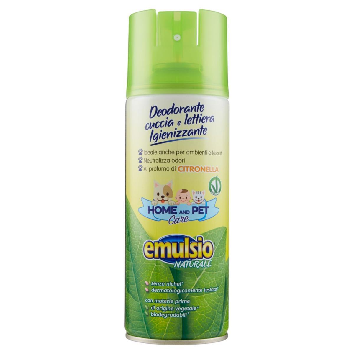 emulsio Naturale Home and Pet Care Deodorante cuccia e lettiera Igienizzante Citronella 400 ml