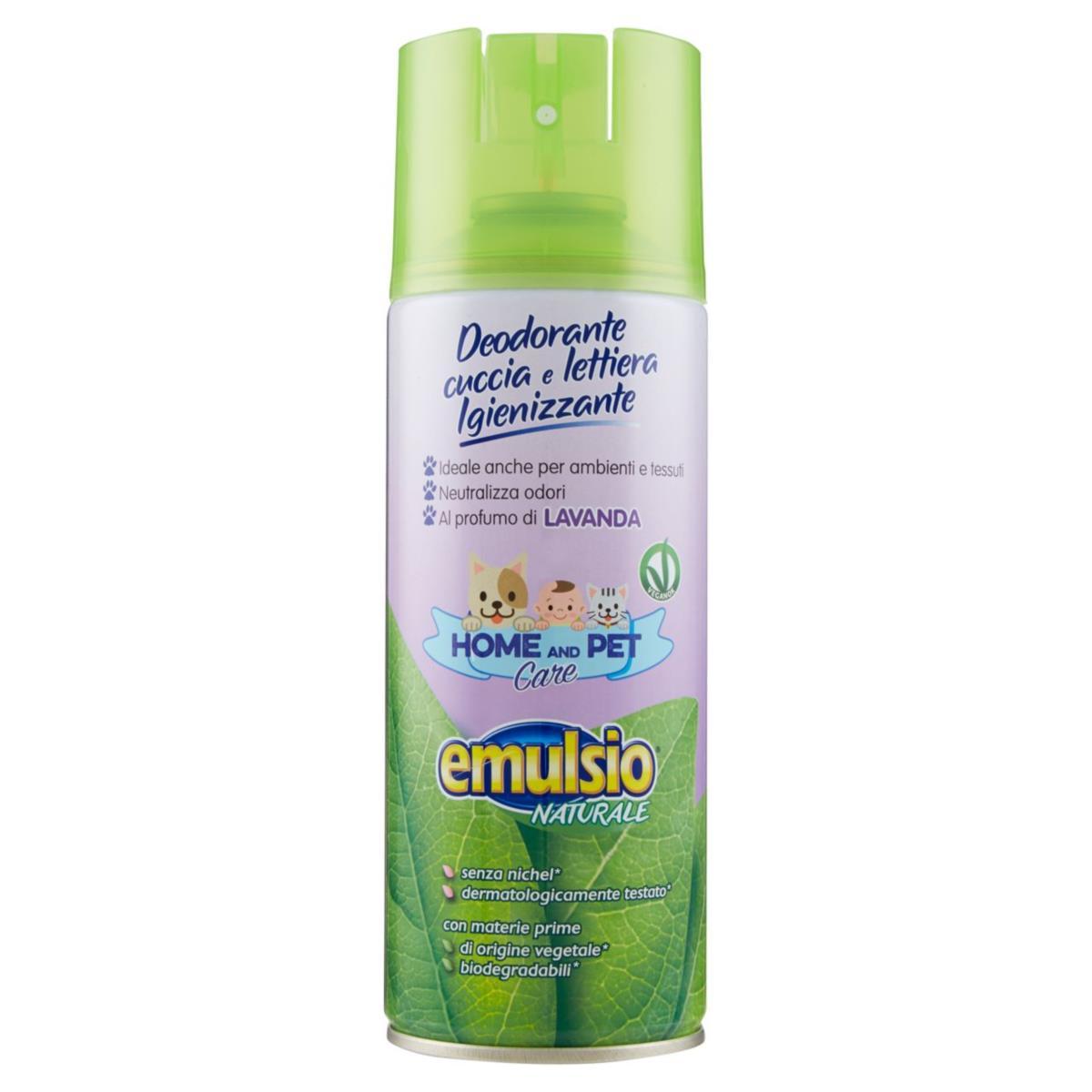 emulsio Naturale Home and Pet Care Deodorante cuccia e lettiera Igienizzante Lavanda 400 ml