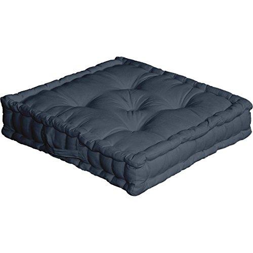 Enjoy Home 2007GRFCS050050 - Cuscino da pavimento, con maniglia, in cotone, dimensioni: 50 x 50 cm, colore grigio - 1