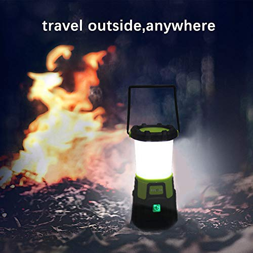 EULOCA Torcia Lanterna LED 3 in 1, Lampada Ricaricabile USB Portatile Impermeabile, CREE LED da Campeggio, Pesca, Trekking, Emergenze Escursioni (4400mAh/1200lm lanterne) - 1