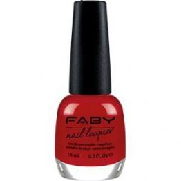 FABY NAILS - Smalto Faby's Red - Rosso Puro - Smalto Lunga Tenuta - 100% Vegan, Cruelty Free - Senza DBP, Toluene, Formaldeide, Resina di Formaldeide e Canfora - 15 ml - 1