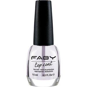 FABY NAILS - Top Coat - Ideale per Smalto Lunga Durata - Finish Brillante - Protegge lo Smalto - Effetto Anti-giallo - Performance Professionale - 15 ml - 1