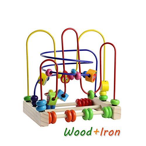 Fajiabao Giocattoli Rotolamento Bead Maze Roller Coaster Giochi di Legno Prima Infanzia Frutta Matematica Giochi Educativi per Bambini 3 Anni - 1