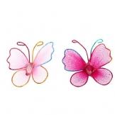 Farfalle decorative in nylon Luoem per matrimoni o decorazione della casa, colori misti, confezione da 50 - 1