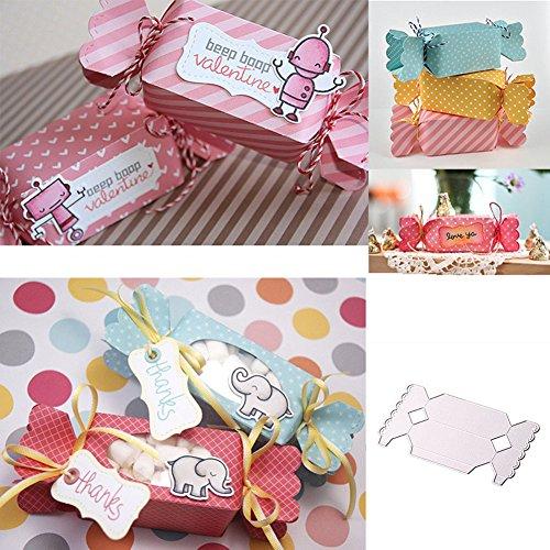 Feidajdzf Candy Gift Box fustella in metallo DIY template album per scrapbooking decorazione–argento - 1