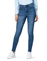 FIND DC3375S jeans donna vita alta, Blu (Mid Wash), W26/L32 (Taglia Produttore: 40) - 1