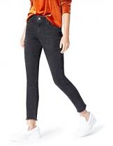 FIND DC3448 jeans donna vita alta, Nero (Nero), W30/L32 (Taglia Produttore: Medium) - 1