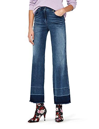 FIND HW 2487B jeans donna vita alta, Blu (Indigo), W28/L32 - 1