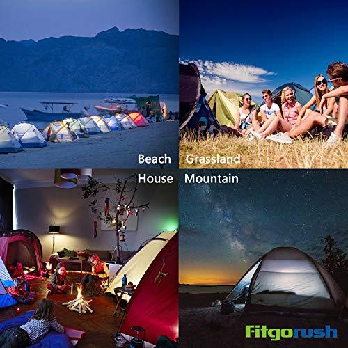 Fitgorush Tenda da Campeggio 2 Posti Persone Ultraleggera Impermeabile, Tende Campeggio con Veranda Portabile, Tenda Igloo Facile da Montare da Escrusioni, Montagna, Mare, Viaggi - 1