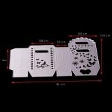 FNKDOR Fustelle per Scrapbooking Fustella Metallo Stencil Taglio del Mestiere Stampo DIY Album Foto Goffratura Stampi Segnalibro, Accessori per Big Shot e altre Fustellatrice macchina (C) - 1