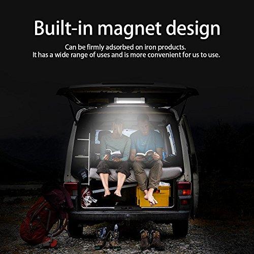 Fogeek LED Lanterna Camping Magnetico Portatile Ricaricabile con Batteria al Litio 4400 mAh 【POWER BANK】 5 Modalità di Illuminazione Luce di emergenza, ideale per il caricamento del telefono - 1