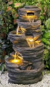 Fontana a Cascata Avoca con luci - 1