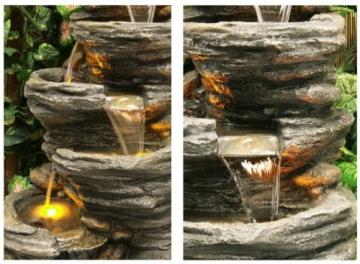 Fontana a Cascata Avoca con luci - 2