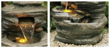 Fontana a Cascata Avoca con luci - 3