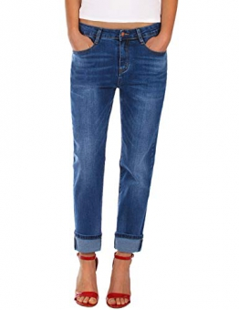 Fraternel Jeans Donna Boyfriend Baggy Blu Taglia: IT 38 - XS - 1