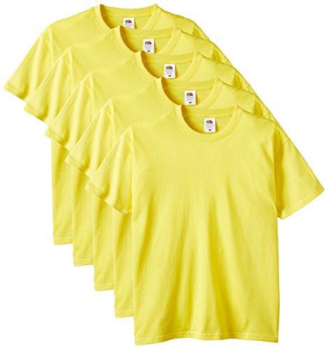 Fruit of the Loom 61-212 Heavy Cotton Tee Maglietta da Uomo, pacco da 5 pezzi - 1