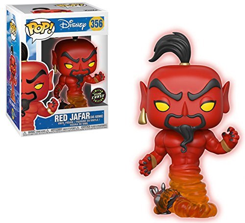 FunKo Pop! Disney: Aladdin – Red Jafar come Genie Limited Edition CHASE Variant Vinyl Figure (in bundle con Pop BOX PROTECTOR CASE)