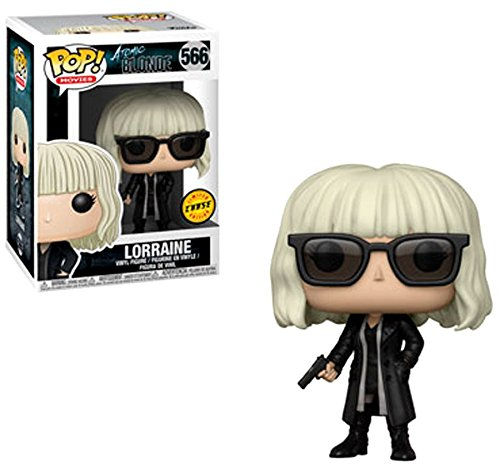 FunKo Pop! Film: Atomic Blonde - Lorraine Broughton Black Coat CHASE Variant Limited Edition Vinyl Figure (in bundle con Custodia protettiva pop box) - 1