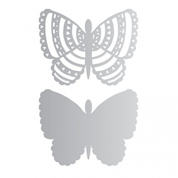 Fustella 2 Fustelle thinlits Farfalle Farfalla graziosa Primavera Cut 660427 Graceful Butterfly Big Shot Sizzix Carta cartoncino Works with Art Squares Ellison - 1