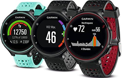 Garmin Forerunner 235 GPS Sportwatch con Sensore Cardio al Polso e Funzioni Smart, Nero/Grigio - 1