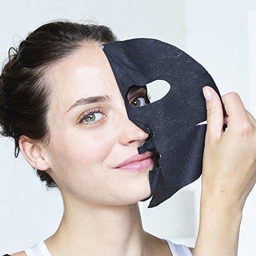 Garnier Skincare Skin Active Pure Charcoal Maschera in Tessuto, Confezione da 4 Pezzi - 1