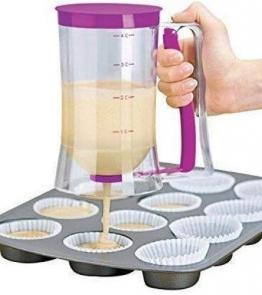 Gearmax® Batter Dispenser cuociono l'attrezzo 900ml Capacità Pancakes Muffin Cupcakes Pastry Jug pratica di plastica - 1