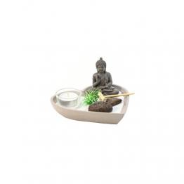 Giardino Zen a forma di cuore-Oggetto decorativo con accessori-Diversi colori disponibili - 1
