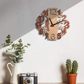 Giftgarden Orologio da Parete in Legno con Albero e Uccello Decor per Casa - 2