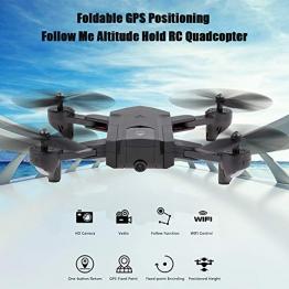 Goolsky Fotocamera HD SG900-S 720P Wifi FPV GPS Posizionamento Seguimi Altitudine Tenere pieghevole RC Selfie Drone Quadcopter - 1